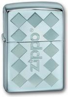 Зажигалка Zippo Zframed с покрытием High Polish Chrome, латунь/сталь, серебристая, глянцевая