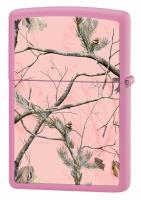 Зажигалка Zippo с покрытием Pink Matte, латунь/сталь, розовая, матовая, 36x12x56 мм