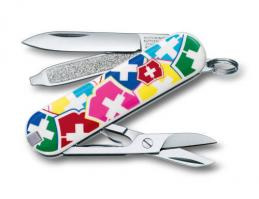 "Нож-брелок Victorinox Classic, 58 мм, 7 функций, ""VX Colors"""