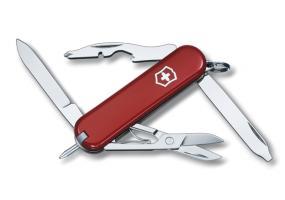 Нож-брелок Victorinox Classic Manager, 58 мм, 10 функций, красный