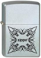 Зажигалка Zippo №205 Tattoo Design с покрытием Satin Chrome, латунь/сталь, серебристая, матовая