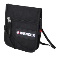 Кошелек на шею Wenger Neck Wallet, черный/красн., 17х10х3 см