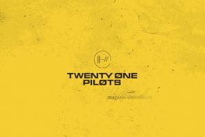 Флаг группы Twenty One Pilots на желтом фоне