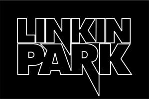 Флаг группы Linkin Park, черный фон