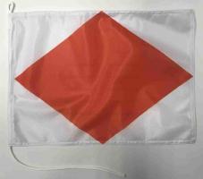 Флаг международного свода сигнала F Фокстрот (Foxtrot)
