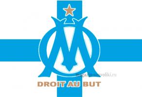 Флаг ФК Олимпик Марсель