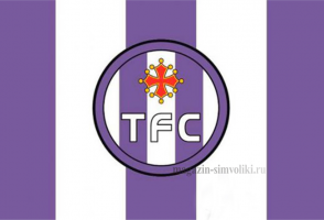 Флаг ФК Тулуза