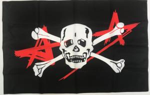 Флаг группы Алиса с черепом