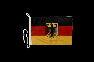 Флаг Германии с гербом на яхту
