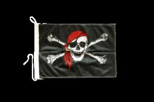 Пиратский флаг Весёлый Роджер на яхту