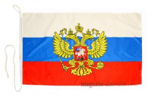 Флаг России с гербом на яхту