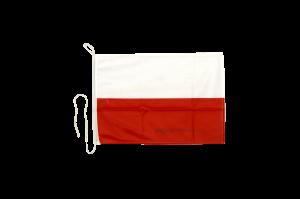 Флаг Польши на яхту