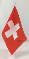 Флаг Швейцарии настольный на подставке