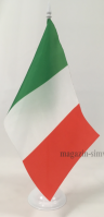 Флаг Италии настольный на подставке