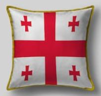 Подушка с флагом Грузии