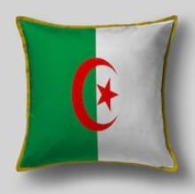 Подушка с флагом Алжира