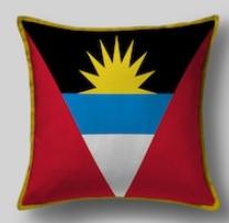Подушка с флагом Антигуа и Барбуда