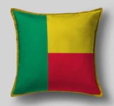 Подушка с флагом Бенина