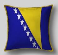 Подушка с флагом Боснии и Герцеговины