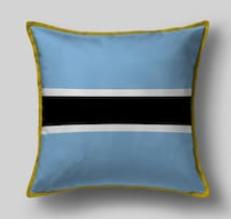 Подушка с флагом Ботсваны
