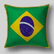 Подушка с флагом Бразилии