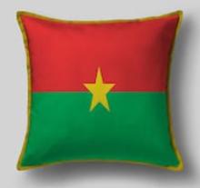 Подушка с флагом Буркина Фасо