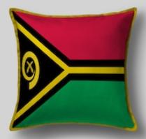 Подушка с флагом Вануату