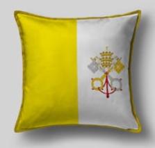 Подушка с флагом Ватикана