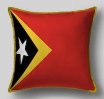 Подушка с флагом Восточного Тимора