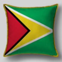 Подушка с флагом Гаяны