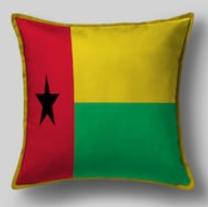 Подушка с флагом Гвинеи Бисау