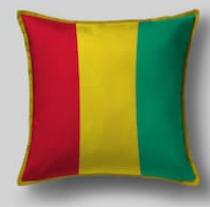 Подушка с флагом Гвинеи