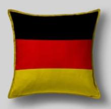 Подушка с флагом Германии