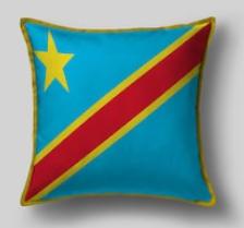 Подушка с флагом Демократической республики Конго