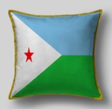 Подушка с флагом Джибути