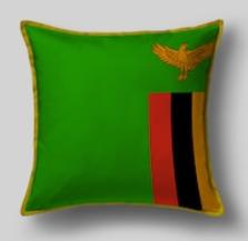 Подушка с флагом Замбии