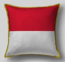 Подушка с флагом Индонезии