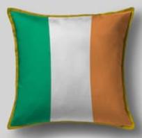 Подушка с флагом Ирландии