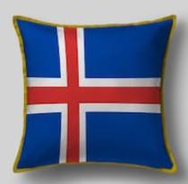 Подушка с флагом Исландии