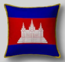 Подушка с флагом Камбоджи