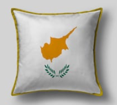 Подушка с флагом Кипра