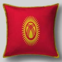 Подушка с флагом Киргизии