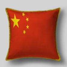 Подушка с флагом Китая