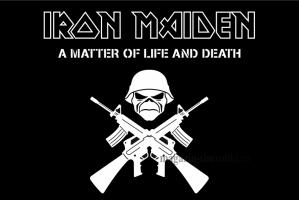 Флаг группы Iron Maiden (A matter of life and death)