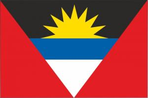 Флаг Антигуа и Барбуда двусторонний