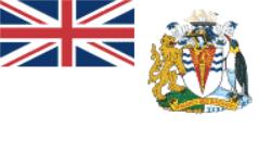 Флаг Британская Антарктическая территория двусторонний