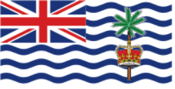 Флаг Британская территория в Индийском океане двусторонний
