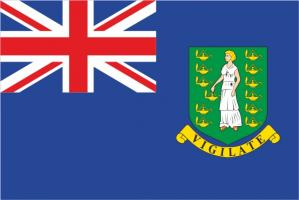 Флаг Британских Виргинских островов двусторонний