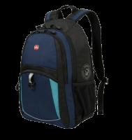 """Рюкзак Wenger 15"""", синий/черный/бирюзовый, 33x15x45 см, 22 л"""