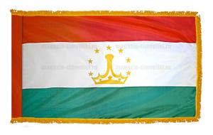 Флаг Таджикистана с бахромой